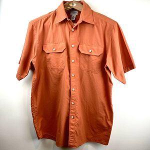 VTG LL Bean Button Front Shirt Lightweight Sz LT